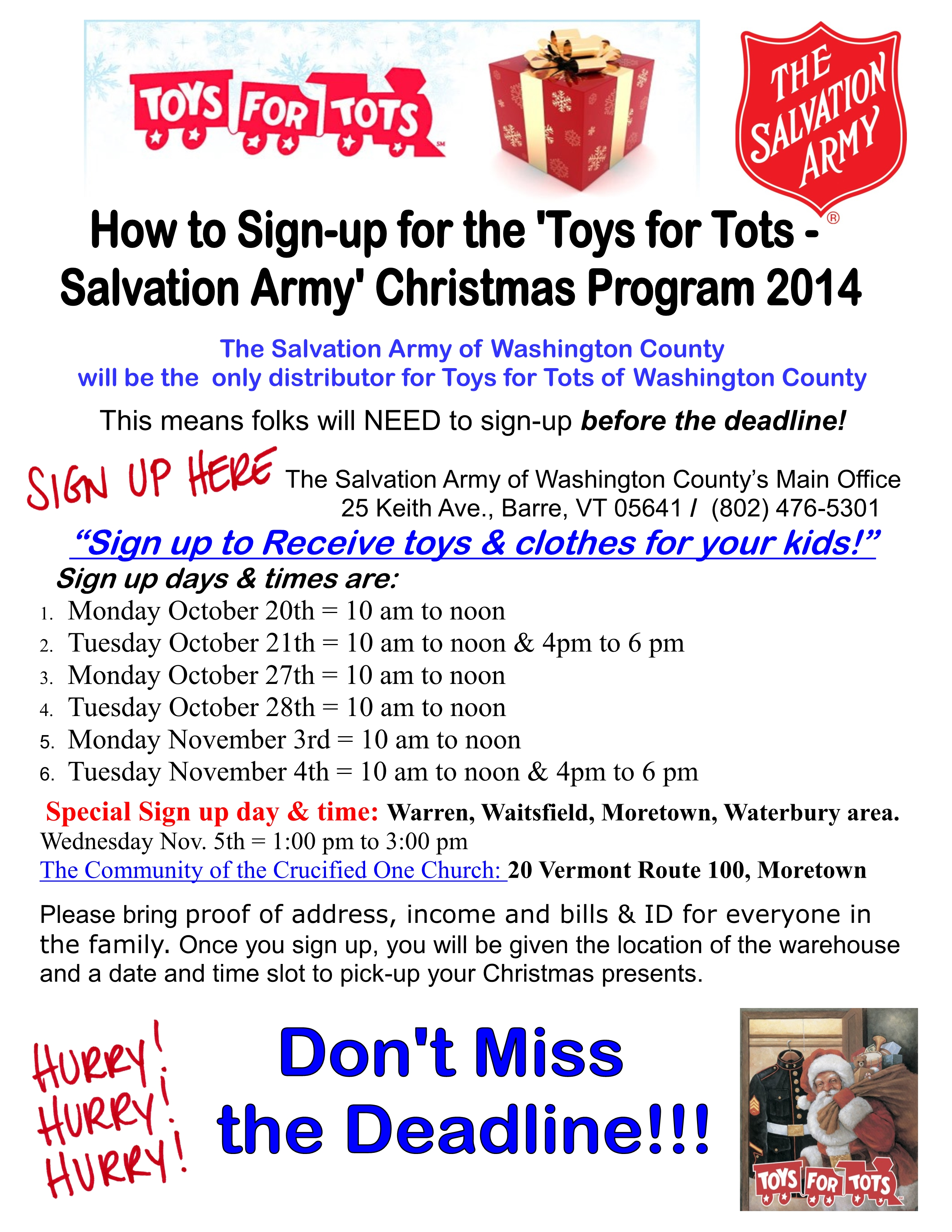 Toys For Tots Sign : Updates from our community  becky s