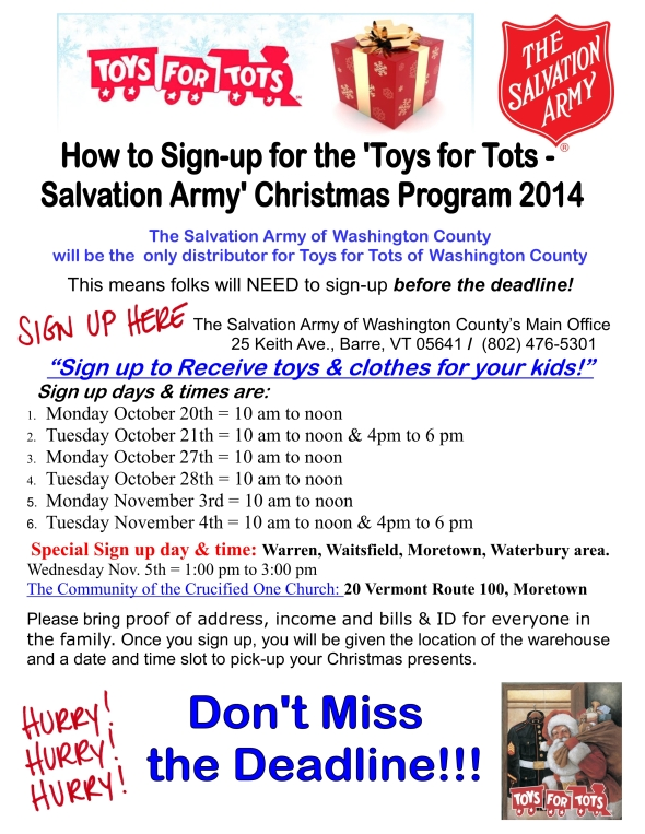 Toys For Tots 2014 Application : Updates from our community
